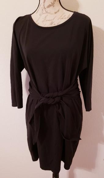 Catherine Malandrino Dresses & Skirts - NWOT Catherine Black Front Tie Dress sXL